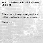 This issue is being investigated and will be resolved as soon as possible.   Thank you -11 Kedleston Road, Leicester, LE5 5HX