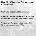 We've investigated the situation.  An Order has been made to repair the defect and the case has been closed.  Thank you for using Love Leicester. You're making a real difference.-134 Wilberforce Rd, Leicester LE3 0DG, UK