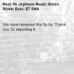 We have removed the fly-tip. Thank you for reporting it.-9b Jephson Road, Green Street East, E7 8NA