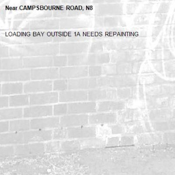 LOADING BAY OUTSIDE 1A NEEDS REPAINTING-CAMPSBOURNE ROAD, N8