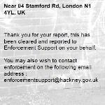 Thank you for your report, this has been cleared and reported to Enforcement Support on your behalf.