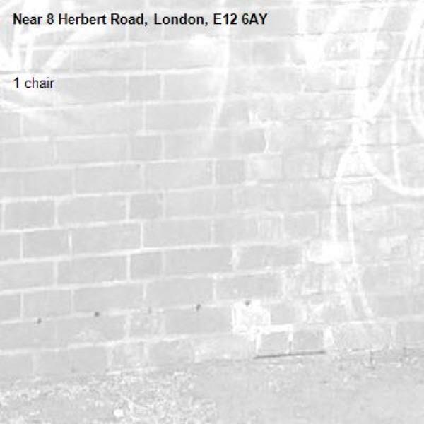 1 chair-8 Herbert Road, London, E12 6AY