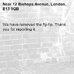 We have removed the fly-tip. Thank you for reporting it.-12 Bishops Avenue, London, E13 0QB