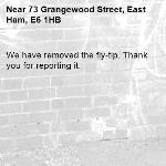 We have removed the fly-tip. Thank you for reporting it.-73 Grangewood Street, East Ham, E6 1HB