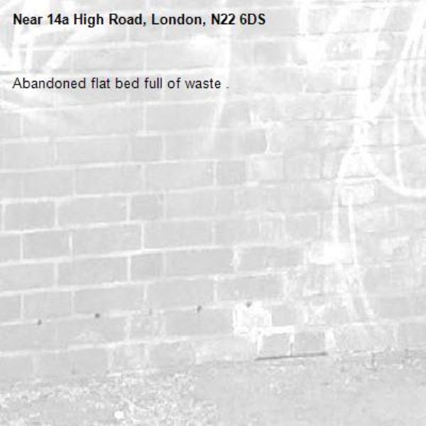 Abandoned flat bed full of waste .-14a High Road, London, N22 6DS