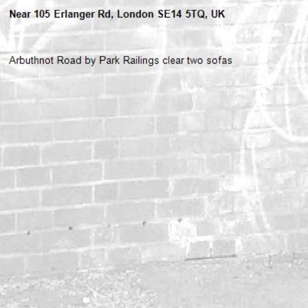 Arbuthnot Road by Park Railings clear two sofas-105 Erlanger Rd, London SE14 5TQ, UK