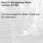 We have swept the street. Thank you for reporting it.-65 Woodgrange Road, London, E7 0EL