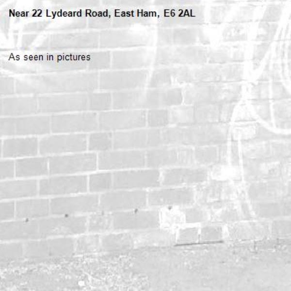 As seen in pictures -22 Lydeard Road, East Ham, E6 2AL