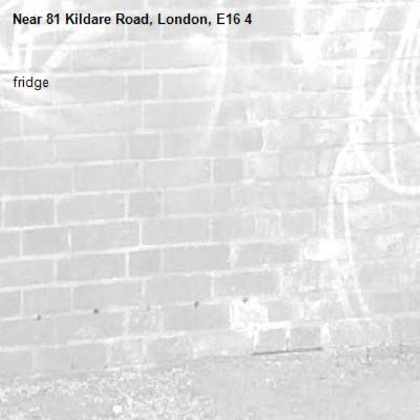fridge -81 Kildare Road, London, E16 4