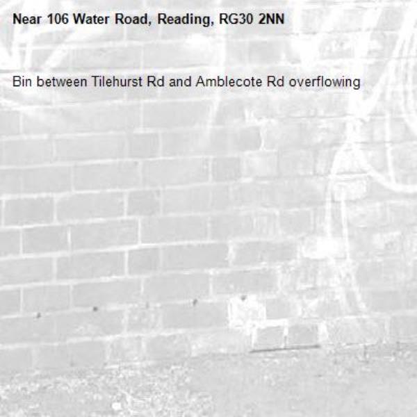 Bin between Tilehurst Rd and Amblecote Rd overflowing -106 Water Road, Reading, RG30 2NN