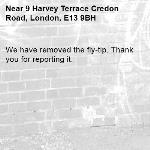 We have removed the fly-tip. Thank you for reporting it.-9 Harvey Terrace Credon Road, London, E13 9BH