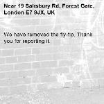 We have removed the fly-tip. Thank you for reporting it.-19 Salisbury Rd, Forest Gate, London E7 9JX, UK