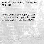 Thank you for your report, I can confirm that the dog fouling was cleared on the 13th June 2019.