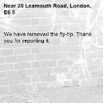 We have removed the fly-tip. Thank you for reporting it.-28 Leamouth Road, London, E6 5