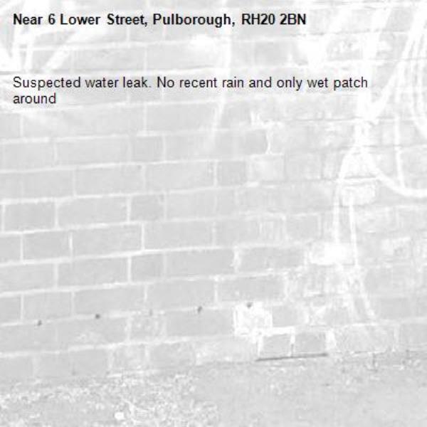 Suspected water leak. No recent rain and only wet patch around-6 Lower Street, Pulborough, RH20 2BN