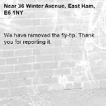 We have removed the fly-tip. Thank you for reporting it.-36 Winter Avenue, East Ham, E6 1NY