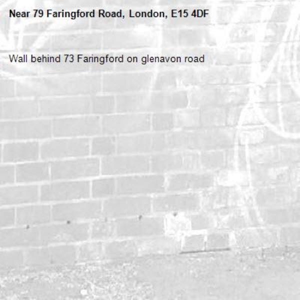 Wall behind 73 Faringford on glenavon road-79 Faringford Road, London, E15 4DF