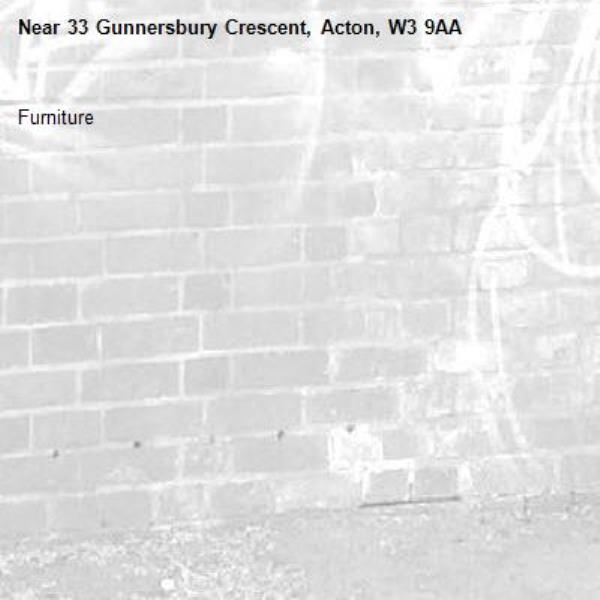 Furniture -33 Gunnersbury Crescent, Acton, W3 9AA