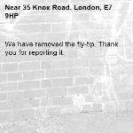 We have removed the fly-tip. Thank you for reporting it.-35 Knox Road, London, E7 9HP