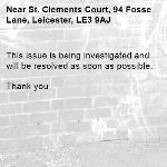 This issue is being investigated and will be resolved as soon as possible.   Thank you -St. Clements Court, 94 Fosse Lane, Leicester, LE3 9AJ