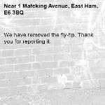 We have removed the fly-tip. Thank you for reporting it.-1 Mafeking Avenue, East Ham, E6 3BQ