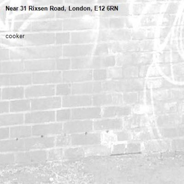 cooker-31 Rixsen Road, London, E12 6RN