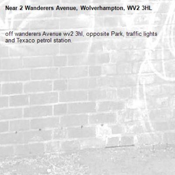 off wanderers Avenue wv2 3hl, opposite Park, traffic lights and Texaco petrol station. -2 Wanderers Avenue, Wolverhampton, WV2 3HL