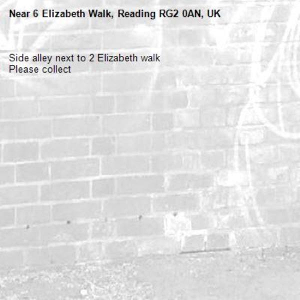 Side alley next to 2 Elizabeth walk Please collect-6 Elizabeth Walk, Reading RG2 0AN, UK