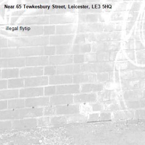 63 tewkesbury st. illegal flytip-65 Tewkesbury Street, Leicester, LE3 5HQ