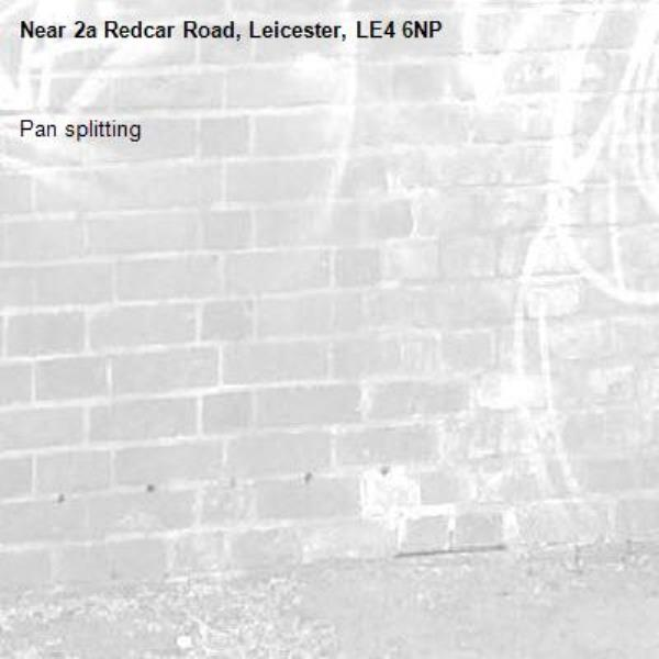 Pan splitting -2a Redcar Road, Leicester, LE4 6NP