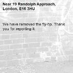 We have removed the fly-tip. Thank you for reporting it.-19 Randolph Approach, London, E16 3HU