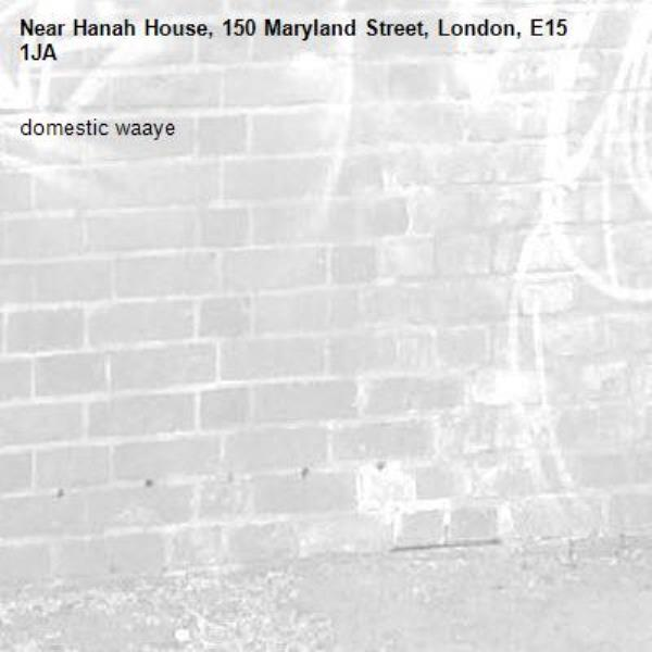 domestic waaye-Hanah House, 150 Maryland Street, London, E15 1JA
