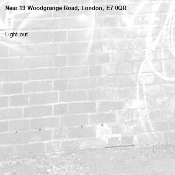 Light out-19 Woodgrange Road, London, E7 0QR