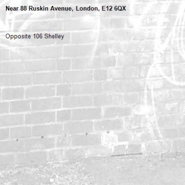 Opposite 106 Shelley -88 Ruskin Avenue, London, E12 6QX