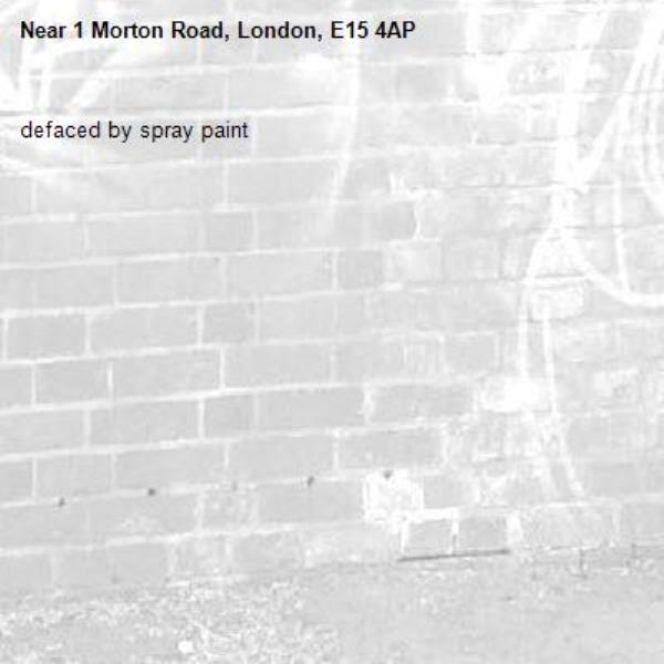 defaced by spray paint-1 Morton Road, London, E15 4AP