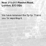 We have removed the fly-tip. Thank you for reporting it.-215-217 Plashet Road, London, E13 0QU
