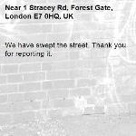 We have swept the street. Thank you for reporting it.-1 Stracey Rd, Forest Gate, London E7 0HQ, UK