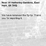 We have removed the fly-tip. Thank you for reporting it.-58 Hatherley Gardens, East Ham, E6 3HQ