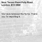 We have removed the fly-tip. Thank you for reporting it.-Tanner Point Pelly Road, London, E13 0NW