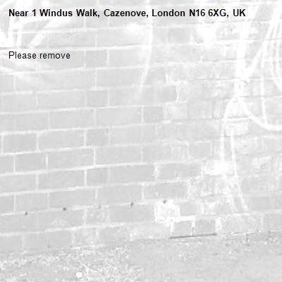 Please remove-1 Windus Walk, Cazenove, London N16 6XG, UK
