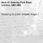flytipping on public footpath image 1-45 Osterley Park Road, London, UB2 4BN