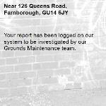 Your report has been logged on our system to be investigated by our Grounds Maintenance team.-126 Queens Road, Farnborough, GU14 6JY