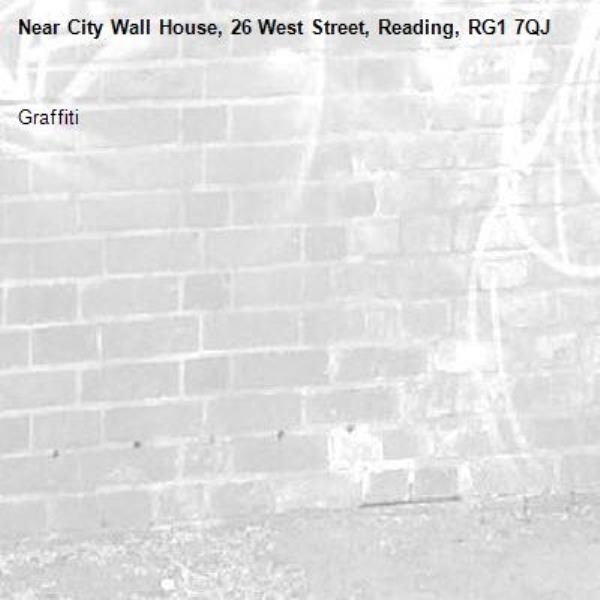 Graffiti -City Wall House, 26 West Street, Reading, RG1 7QJ