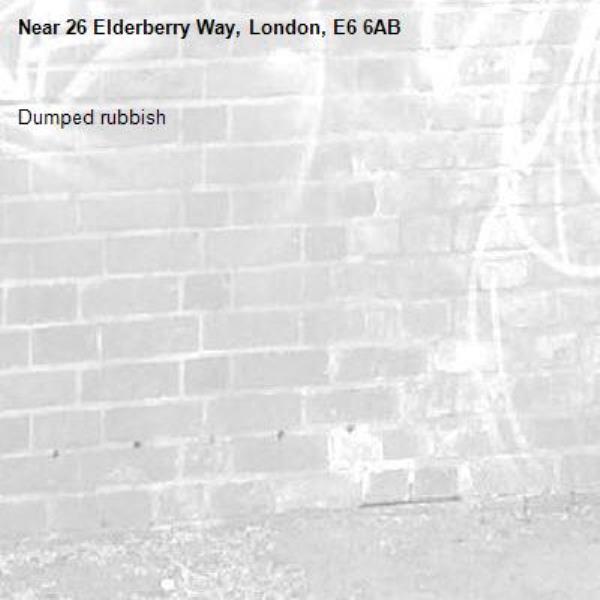Dumped rubbish -26 Elderberry Way, London, E6 6AB