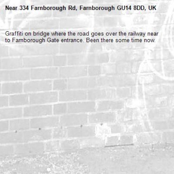 Graffiti on bridge where the road goes over the railway near to Farnborough Gate entrance. Been there some time now.-334 Farnborough Rd, Farnborough GU14 8DD, UK