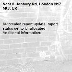 Automated report update, report status set to Unallocated