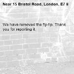 We have removed the fly-tip. Thank you for reporting it.-15 Bristol Road, London, E7 8