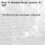 The item(s) has now been collected.-30 Windsor Road, London, E7 0QT