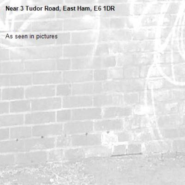 As seen in pictures -3 Tudor Road, East Ham, E6 1DR