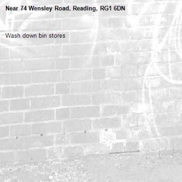 Wash down bin stores-74 Wensley Road, Reading, RG1 6DN
